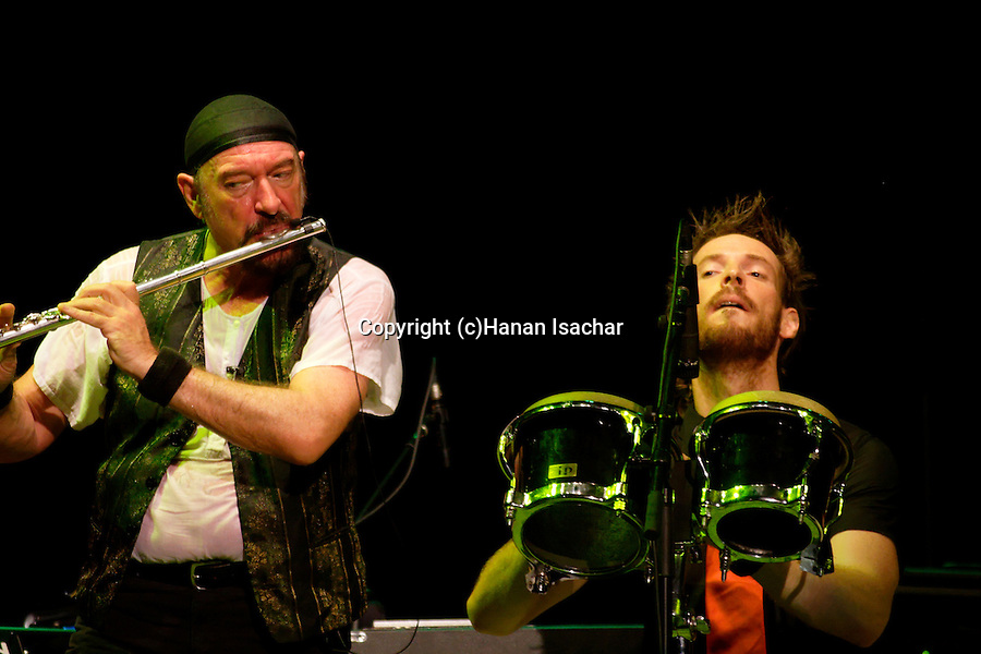 Ian Anderson and James Duncan, Jethro Tull concert in Caesarea, Israel
