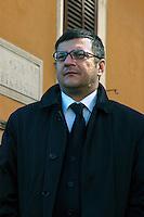 Roma 8 Marzo 2008<br /> Comizio elettorale del Partito &quot;La Destra&quot;  al Quartiere Esquilino, Fabio Sabbatani Schiuma, portavoce del partito &quot;La Destra&quot; a Roma.Fabio Sabbatani Schiuma, spokesman of the party &quot;La Destra&quot; to Rome.