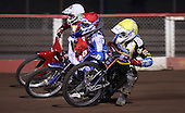 Heat 2: Lewis Rose (yellow), Jack Kingston (red) and Liam Rumsey (white) - Lakeside Young Hammers vs Kings Lynn Lightning, Anglian Junior League Speedway at the Arena Essex Raceway, Pufleet - 22/06/12 - MANDATORY CREDIT: Rob Newell/TGSPHOTO - Self billing applies where appropriate - 0845 094 6026 - contact@tgsphoto.co.uk - NO UNPAID USE..