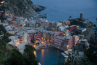 Stock image of the Town of Vernazza Cinque Terre Italy,night shot.
