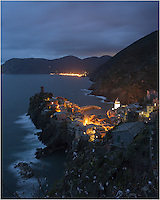Looking across the Cinque Terre village Vernazza at night, you can see the distant lights of the northernmost town, Monterosso al Mare. Life has been this way for 2000 years - simple and dependent on the sea. Only recently has tourism changed this area considerably.
