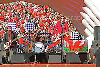 The Manic Street Preachers perform during the homecoming celebrations at the Cardiff City stadium on Friday 8th July 2016 for the Euro 2016 Wales International football squad.<br /> <br /> <br /> Jeff Thomas Photography -  www.jaypics.photoshelter.com - <br /> e-mail swansea1001@hotmail.co.uk -<br /> Mob: 07837 386244 -