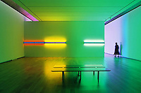 Dan Flavin Installation at Museum of Modern Art Fort Worth designed by Tadao Ando.
