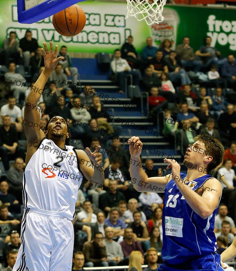 Joshua Akognon Aba Jadranska Regionalna liga, Partizan - Zadar, 25. kolo Beograd, Srbija, 15.3.2015.  (credit image & photo: Pedja Milosavljevic / STARSPORT).