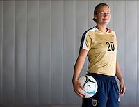Abby Wambach. U.S. Women's National Team portrait photoshoot. June 8, 2007 in Carson, CA.