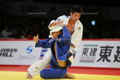 (L-R) Tomofumi Takajo, Masashi Ebinuma (JPN), DECEMBER 5, 2015 - Judo : IJF Grand Slam Tokyo 2015 International Judo Tournament Men's -66kg Final Match at Tokyo Metropolitan Gymnasium, Tokyo, Japan. (Photo by Yusuke Nakanishi/AFLO SPORT)