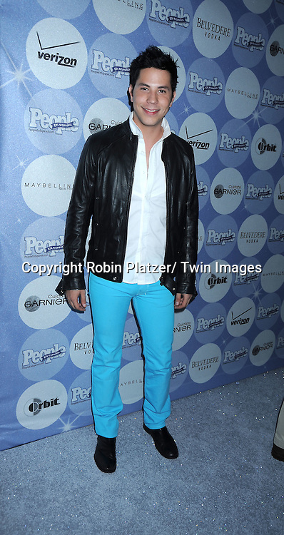 Christian Chavez, Mexican singer, posing for photographers at The People En Espanol's 50 Most Beautiful People Party on May 20, 2010 at Guastavinos in New York City.