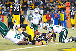PITTSBURGH, PA - JANUARY 23: Hines Ward #86 of the Pittsburgh Steelers reaches for the end zone while being tackled by David Harris #52 of the New York Jets in the AFC Championship Playoff Game at Heinz Field on January 23, 2011 in Pittsburgh, Pennsylvania(Photo by: Rob Tringali) *** Local Caption *** Hines Ward;David Harris
