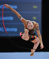 Daria Kondakova of Russia performs at 2010 World Cup at Portimao, Portugal on March 12, 2010.  (Photo by Tom Theobald).