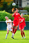 14 October 2010: University of Hartford Hawks forward Caroline Dixon, a Sophomore from Manchester, England, in action against the University of Vermont Catamounts at Centennial Field in Burlington, Vermont. The Hawks defeated the Lady Cats 6-2 in America East play. Mandatory Credit: Ed Wolfstein Photo