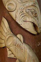 West Coast Indian salmon carving, Granville Island, Vancouver, British Columbia, Canada