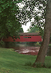 Wooden covered bridge beam enclosed  with brown truss single lane with enclosed sides and roof, wooden bridge, nineteenth century, landmarks, historic preservation, beams enclosed bridge structure, trusses, brown truss, Fine Art Photography by Ron Bennett, Fine Art, Fine Art photography, Art Photography, Copyright RonBennettPhotography.com ©