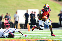 William Likely of the Terrapins gain big yards on his way to  setting a Big 10 punt return record with 233 yards. Maryland defeated Richmond 50-21 during home season opener at the Byrd Stadium in College Park, MD on Saturday, September 5, 2015.  Alan P. Santos/DC Sports Box
