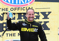 Apr. 29, 2012; Baytown, TX, USA: NHRA top fuel dragster driver Troy Buff during the Spring Nationals at Royal Purple Raceway. Mandatory Credit: Mark J. Rebilas-