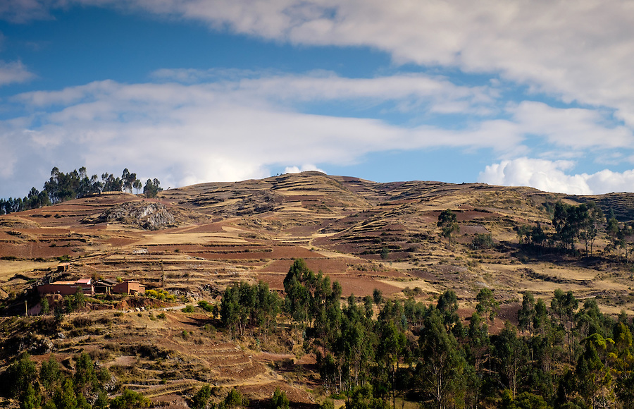 CHINCHERO, PERU - CIRCA OCTOBER 2015:  Mountains close to Chinchero on the Cusco region known as Sacred Valley