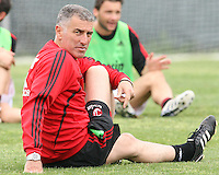 Mauro Tassotti of AC Milan during a practice session at RFK practice facility in Washington DC on May 24 2010.