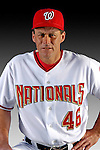 25 February 2007: Washington Nationals Pitching Coach Randy St. Claire poses for his Photo Day portrait at Space Coast Stadium in Viera, Florida.<br /> <br /> Mandatory Photo Credit: Ed Wolfstein Photo<br /> <br /> Note: This image is available in a RAW (NEF) File Format - contact Photographer.