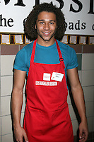 Corbin Bleu at the LA Mission Thanksgivng Feeding of the Homeless in    Los Angeles, CA.November 26, 2008.©2008 Kathy Hutchins / Hutchins Photo....