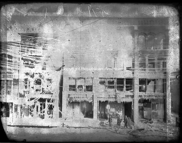 Frederick Stone negative. Fire unidentified, undated.