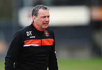 Blackpool Goalkeeper Coach Dave Timmins during the pre-match warm-up <br /> <br /> Photographer Kevin Barnes/CameraSport<br /> <br /> The EFL Sky Bet League Two - Saturday 18th March 2017 - Newport County v Blackpool - Rodney Parade - Newport<br /> <br /> World Copyright &copy; 2017 CameraSport. All rights reserved. 43 Linden Ave. Countesthorpe. Leicester. England. LE8 5PG - Tel: +44 (0) 116 277 4147 - admin@camerasport.com - www.camerasport.com