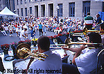 Brass band, dancing, St. Patrick's Day parade, Scranton, PA