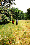 California: Hiking in Big Basin Park, model released..Photo copyright Lee Foster, 510/549-2202, lee@fostertravel.com, www.fostertavel.com..Photo #: cared2103