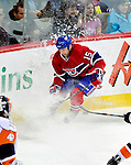 26 October 2009: Montreal Canadiens' center Glen Metropolit comes to a quick stop during the third period against the New York Islanders at the Bell Centre in Montreal, Quebec, Canada. The Canadiens defeated the Islanders 3-2 in sudden death overtime for their 4th consecutive win. Mandatory Credit: Ed Wolfstein Photo