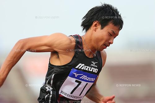 Yusuke Ishitsuka, <br /> SEPTEMBER 22, 2013 - Athletics : <br /> The 61st All Japan Industrial Athletics Championship <br /> Men's 400m <br /> at Kumagaya Sports Culture Park Athletics Stadium, Saitama, Japan. <br /> (Photo by YUTAKA/AFLO SPORT) [1040]