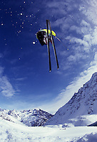 Ski jump in Portillo, Chile.