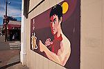 Bruce Lee Poster China Town street scene Seattle Washington State