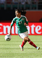 Wolfsburg , 270611 , FIFA / Frauen Weltmeisterschaft 2011 / Womens Worldcup 2011 , Gruppe B  ,  ..England - Mexico ..Stephany Mayor (Mexico) ..Foto:Karina Hessland ..