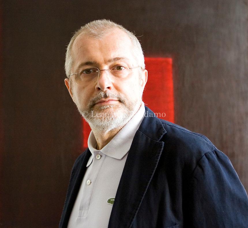 Mantova, Italy, 2008. Frediano Sessi, Italian writer, narrator, essayst and editorial consultant. Mr Sessi lives in Mantova where he manage the Einaudi bookshop.