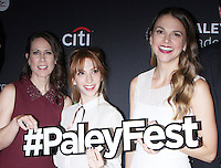 NEW YORK, NY - OCTOBER 10: Miriam Shor, Molly Bernard and Sutton Foster at PaleyFest New York's presentation of Younger at the Paley Center for Media in New York City on October 10, 2016. Credit: RW/MediaPunch
