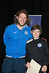 St Johnstone FC Youth Academy Presentation Night at Perth Concert Hall..21.04.14<br /> Stevie May presents to Gregor Fullerton<br /> Picture by Graeme Hart.<br /> Copyright Perthshire Picture Agency<br /> Tel: 01738 623350  Mobile: 07990 594431