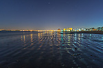 Nightfall at Revere Beach, Revere, Massachusetts, USA