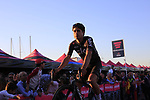 Michel Landa (ESP) Team Sky at the Team Presentation in Alghero, Sardinia for the 100th edition of the Giro d'Italia 2017, Sardinia, Italy. 4th May 2017.<br /> Picture: Eoin Clarke | Cyclefile<br /> <br /> <br /> All photos usage must carry mandatory copyright credit (&copy; Cyclefile | Eoin Clarke)