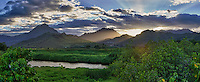 Cloudy sunset over Kawainui Marsh