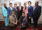 The cast of Aladdin the musical Jawan Crawley, Steel Burkhardt, Brad Weinstock, Brian Gonzales, Jonathan Freeman, Courtney Reed, Don Darryl Rivera, Jacob Dickey, and Major Attaway attend The Actors Fund Annual Gala at the Marriott Marquis on 5/8//2017 in New York City.
