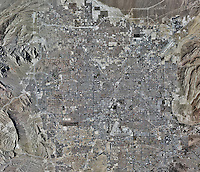 aerial photo map of Las Vegas, Nevada