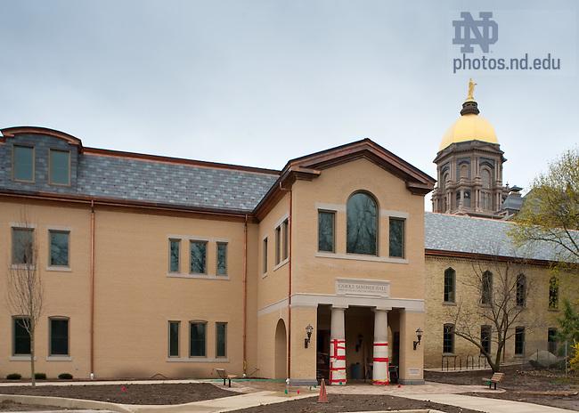 Apr. 25, 2011; Carole Sandner Hall under construction..Photo by Matt Cashore/University of Notre Dame