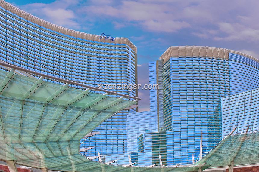 Aria, Hotel, Resort & Casino, Vdara, Veer Towers, CityCenter, Las Vegas Nevada, hotel tower, luxury condominium units, Hospitality, No People, Travel, Destination, View,