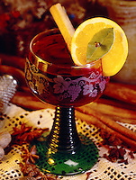 Mulled wine, spiced warm red wine
