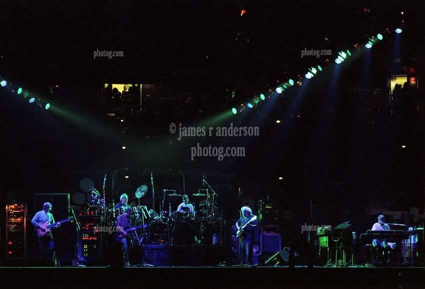 The Grateful Dead Live at The Civic Center, Hartford Connecticut on the 19th of March, 1990. Wide Stage and Lights from the Lighting Booth.