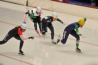 SPEED SKATING: INZELL: 06-12-2015, Max Aicher Arena, ISU World Cup, Mass Start Ladies, ©foto Martin de Jong