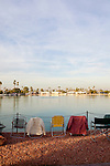 Chairs surround the lake before the holiday boat parade that followed hours later at the Holiday Around the World Celebration in Sun City, Az  at the Lakeview Recreation Center December 10, 2010...2010 marks the 50th anniversary of Sun City, America's first retirement city that remains the largest today with more than 40,000 residents 55 and older.