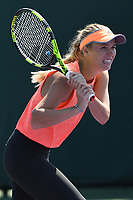 KEY BISCAYNE, FL - MARCH 22 : Caroline Wozniacki is sighted on the practice court during the Miami Open at Crandon Park Tennis Center on March 22, 2017 in Key Biscayne, Florida. Credit: mpi04/MediaPunch