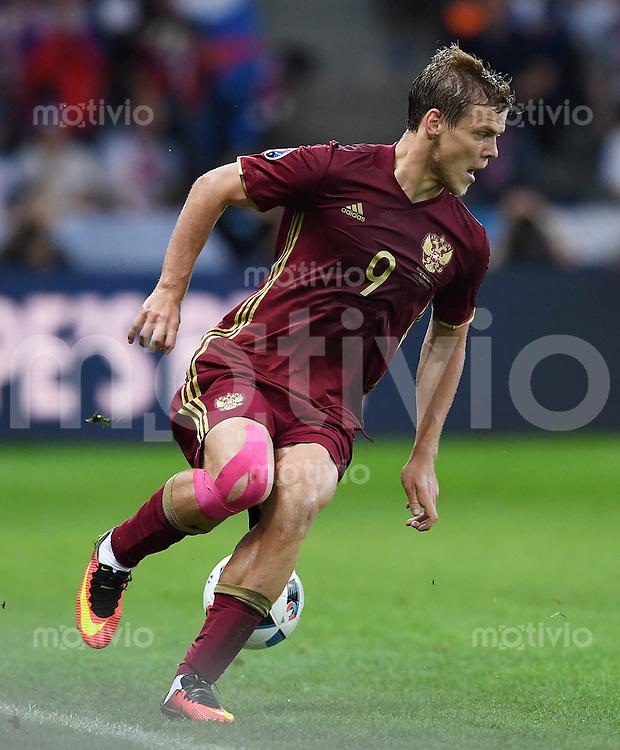 FUSSBALL EURO 2016 GRUPPE B in Lille Russland - Slowakei     15.06.2016 Aleksandr Kokorin (Russland) mit Ball