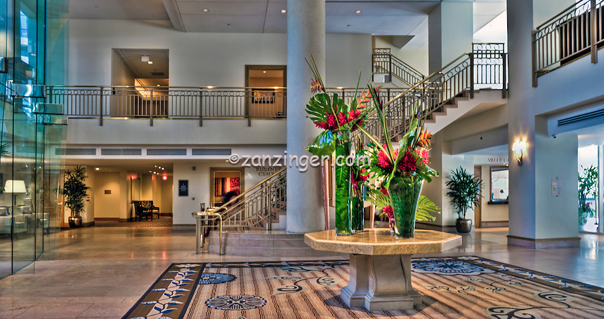Omni Los Angeles Hotel, California Plaza, historic Bunker Hill, downtown Los Angeles, Interior,  Architectural,