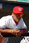5 March 2006: Ian Desmond, infielder for the Washington Nationals, looks out from the dugout during a Spring Training game against the Baltimore Orioles. The Nationals defeated the Orioles 10-6 at Space Coast Stadium, in Viera Florida...Mandatory Photo Credit: Ed Wolfstein..
