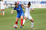 CHESTER, PA - MARCH 01: Gaetane Thiney (FRA) (17) and Demi Stokes (ENG) (3). The England Women's National Team played the France Women's National Team as part of the She Believes Cup on March, 1, 2017, at Talen Engery Stadium in Chester, PA. The France won the game 2-1.